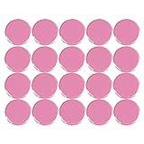 Kühlschrankmagnete, Whiteboards, Pinnwand, Planung, Magnetknopf, rund, Kunststoff, 30 mm, Rosa, 20 Stück