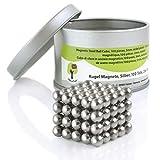 OfficeTree® 100 Mini Neodym-Magnet-Kugeln 5 mm Ø - Puzzle- Würfel - extra-stark für Magnet-Tafel Whiteboard Pinnwand Kühlschrank - Premium-Qualität