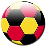 Fußball Fan Magnet Länderflagge Deutschland Ø 5 cm Kühlschrankmagnet mit innovativem Motiv für Magnettafel Pinnwand Magnetpinnwand Memoboard Whiteboard