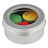 SMILEYBOARD Magnete mit Smiley-Motiven - 60 Emoji Magnete - ø 2,5cm - Je 20x grün, gelb und rot