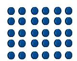 30x Magnete Blau Ø 24mm, Haftmagnete für Whiteboard, Kühlschrankmagnet, Magnettafel, Magnetwand, Magnet Rund