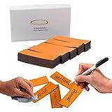ECENCE 75 Magnetstreifen beschreibbar - 60x20mm Orange - zuschneidbare Haftstreifen - abwischbare Magnetschilder - Magnet-Etiketten für Whiteboards, Kühlschränke, Magnettafeln