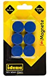 Idena 377026 - Magnete, 6 Stück, Durchmesser 24 mm, rund, Stärke 7 mm, blau