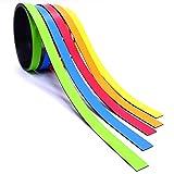 5x Magnet-Streifen farbig sortiert I ca. 1 cm x 1 m Magnetband zum markieren einteilen auf Whiteboards Lager-Regale Kalender I Magnet-Etiketten I mag_210