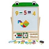 Cestbon Multifunktions Tafel,Doppelseiten Die Tafel Zeichnungs Malereitafel Whiteboard Studieren Für Kinder,Grün