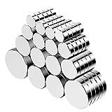 Jewan Neodym Magnete - 80 Stücke Mini Magnete Rund mit Aufbewahrungs Box, Magnete Klein Stark für Pinnwand, Whiteboard, Kühlschrank, Magnettafel,5 Größen