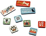 Nostalgic-Art Retro Kühlschrank-Magnete PfotenSchild Friends – Geschenk-Idee für Hunde-Besitzer, Magnetset für Magnettafel, Vintage Design, 9 Stück