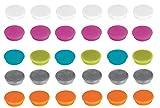 Franken Magnete Haftmagnete für Whiteboard, Kühlschrank, Magnettafel, Magnetwand, farblich sortiert 60 Stück