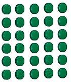 30 Magnete Ø 24mm, Haftmagnete für Whiteboard, Kühlschrankmagnet, Magnettafel, Magnetwand, Magnet Rund, Grün