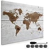 Navaris Magnettafel Magnetpinnwand Memoboard zum Beschriften - 90x60 cm Notiztafel div. Designs - Tafel abwaschbar mit Magneten Stift