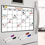 Magnetisches Whiteboard Kühlschrank Kalender - Menü-Planer, Memo oder wöchentliche Einkaufsliste für Erwachsene und Kinder - Notizbrett Wandkalender für Büro und Küche