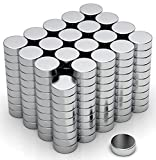 NeoMagNova 200 Stück Mini Neodym Magnet 6x2mm, Starke Magnete für Magnettafel, Whiteboard, Kühlschrank, Basteln, Neodym Magnete klein und extra stark N42