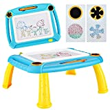 DUTISON Zaubertafel Maltafel Magnettafel für Kinder, Magnetische Zeichentafel Zaubermaltafel Malbrett für ab 3 Jahre Geschenk (Blau)