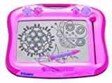 TOMY Magnettafel für Kinder, Magnet Maltafel, 'Megasketcher' in rosa, hochwertiges Kinderspielzeug, Zaubertafel, bunt, ohne Wabenstruktur, fördert die Kreativität, Ideales Weihnachtsgeschenk, ab 3 Jahre
