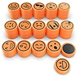 Lesfit 40 Stück Kühlschrankmagnet, Emoji Magnete für Magnettafel, Kühlschrank, Whiteboard