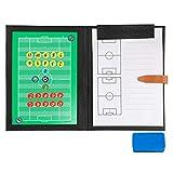 BizoeRade Professional Fußball Taktikmappe Taktiktafel Fußball Coach-Board mit Aufbewahrungstasche