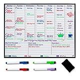 Magnetischer Wochenplaner/Whiteboard für Kühlschrank, Familienplaner – Bessere Organisation für weniger Stress im Leben