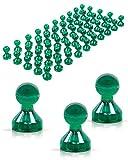 JOAM ® Neodym Magnete – extra hohe Funktion dank einfacher u schneller Befestigung von Notizen beispielsweise an einer Magnettafel - Zubehör für Büro, Haushalt u Schule – transparente Magnete grün