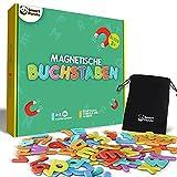 Magnetische Buchstaben für Kinder - Magnetisches Alphabet-Set - Dicke Schaumstoff-Kühlschrankmagnete für Kinder, ABC-Lernspiele für Kleinkinder zum Buchstabieren Lernen, Lesen und Phonetik üben