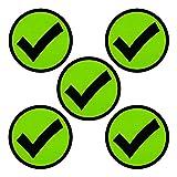 5 Prüfen/Häkchen/Check Magnete für Magnettafeln, Kühlschränke, Plantafeln oder Whiteboards. Emoji-Magnet Grün