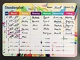 SMILEYBOARD Magnetischer Stundenplan abwischbar - Bunte Magnettafel für die Schule - für Kinder und Jugendliche
