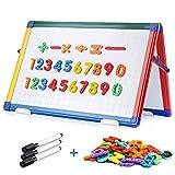 SWANSEA Kindertafel Whiteboard Klappbar Magnettafel Kinder mit Bunte Rahmen, Doppelseitig - 42X30cm