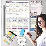 KYONANO Wochenplaner Abwischbar Magnetisch, Organisation Monatsplaner, Wochenplan Haushaltsplan, Magnetisches Whiteboard, Magnettafel Küche Kühlschrank (11STK/Set)