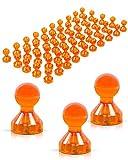 JOAM ® Neodym Magnete – extra hohe Funktion dank einfacher u schneller Befestigung von Notizen beispielsweise an einer Magnettafel - Zubehör für Büro, Haushalt u Schule – transparente Magnete orange