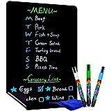 CUHIOY Magnettafel Kühlschrank, 43x28cm Magnettafel Küche, Wochenplaner magnetisch, Memoboard Magnet, für Speiseplanung, Einkaufsliste, To-do-Liste, Kritzeleien, inkl 3 Kreidemarker und Trockenwischer