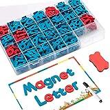 FUQUN Klassenzimmer Magnetisch Briefe kit (212 Stück) mit doppelseitiger Magnettafel - Schaum Alphabet für Kinder Vorschule Rechtschreibung und Lernen, Kühlschrankmagnete Alphabet