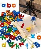 Jaques of London Magnet Buchstaben Für Kinder | Buchstaben Magnete | Alphabet Lernen | Alphabet Buchstaben Magnete Kinder | Kühlschrank Magnete Set Kinder | Seit 1795
