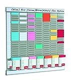 Nobo T-Karten-Planer mit Farblich Sortierten T-Karten (480x480mm)