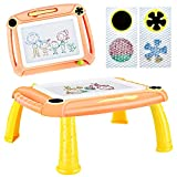DUTISON Zaubertafel Maltafel Magnettafel für Kinder, Magnetische Zeichentafel Zaubermaltafel Malbrett für ab 3 Jahre Geschenk (Orange)