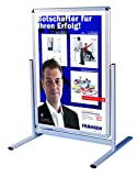 Franken BS1302 Kundenstopper Außenbereich A1 (Informationstafel mit Schnellwechselrahmen) silber