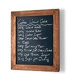 ELAFI® Magnetische Kreidetafel anthrazit schwarz | Schreibtafel zum Aufhängen A4 | Schiefertafel mit Rahmen | Magnettafel aus Kiefernholz | Wandtafel inkl. Jute Seil zum Aufhängen (A4)