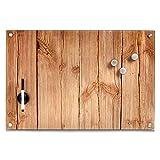Zeller 11651 Memobord Wood, Glas, ca. 60 x 40 x 2 cm