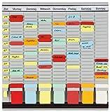 Franken GmbH PV1020 T-Kartentafel (OfficePlaner 7 Module 20 Schlitzen) 47.3 x 49 cm, hellgrau