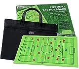Fussballtaktik-Tafel von SmartPanda - Tragbare, magnetische Trainertafel - zweiseitig, komplettes Spielfeld und halbes Spielfeld - inkl. Tragetasche und Stifte