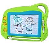 Magnetische Maltafel Zaubertafeln für Kinder, Reisegröße Bunte Schreibtafel Zeichentafel- Magnettafel Zaubermaltafel Kreatives Spielzeug mit 3 Briefmarken für 3 4 5 Jahre alt- Grün