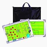 CHSEEA Fußball Taktiktafel Taktikmappe Mit Tragetasche, Fussball Coach-Board Coach Mappe für Professional Fußball Trainer inkl. Zubehör #1