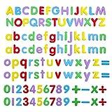 Magnetische Buchstaben und Zahlen,108 Stück Magnetbuchstaben Magnete Zahlen Alphabet Magnettafel für Kinder Lehrmittel Fridge Stickers
