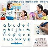 libelyef Magnetic Zaubertafel, Alphabet Magnetic Letter Tracing Board Bildungs-ABC Lesen Schreiben Lernen Preschool Drawing Writing Board Für Kinder Jungen Und Mädchen