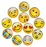 Lesfit 12 Stücke Emoji Magnete Kühlschrankmagnete Magnete Kinder 3D Witzig für Whiteboard Magnettafel