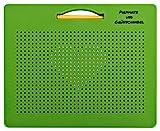 Piepmatz und Grünschnabel magnetische Zeichentafel, Magnetspiel mit Kugeln und Stift, pädagogisches Spiel ab 3 Jahre, grün