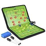 GHB Coaches Taktiktafel Taktiktafel Fussball Coach-Board mit Stifte, Radiergummi, Magneten(Verpackung MEHRWEG)