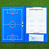 FORZA A4 magnetische Fußball Taktische Zwischenablage Ordner │ wetterfestes Coaching Bord │ 27 Marker Werden enthalten