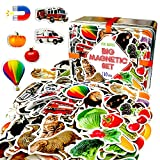 magdum Magnete Kinder Bauernhoftiere+Zoo+Obst+GEMÜSE+Transport Foto - 110 GROßE Kühlschrank Magnete für Kleinkinder - Kinder Magnete - Magnete für magnettafel - Magnete kühlschrank - Kinder Geschenke