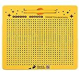 Piepmatz und Grünschnabel Magnettafel | Zeichentafel mit magnetische Kugeln und Stift | pädagogisches Spiel ab 3 Jahre | gelb