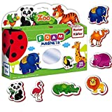 Roter Kafer Magnete Kinder ZOOTIERE 29 Stück- Kühlschrankmagnete kinder Mädchen Junge- Bauernhof spielzeug- Tiere Spielzeug magnet- Magnetspielzeug- Magnete spielzeug- Kinder tiere